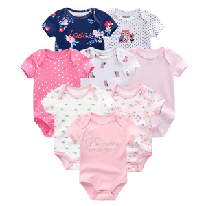 Image 5 - 2020 8PCS/lot Clothing Sets Cotton Newborn Unicorn Baby Girl Clothes Bodysuit Baby Clothes Ropa bebe Baby Boy Clothes