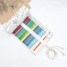 Big Pencil Case School Canvas Roll Pouch pencil box Constellation Pencil Case Sketch Brush pen Pencil Bag Tools