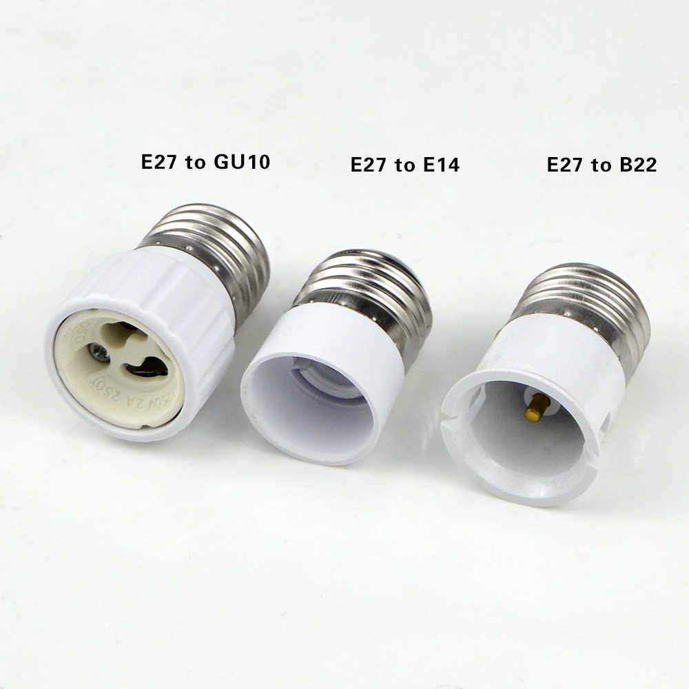 Led Lamp Bulb Base Conversion Holder Converter Socket Adapter GU10 G9 B22 E27 E14 E12 Fireproof Material For Home Light&Lighitng