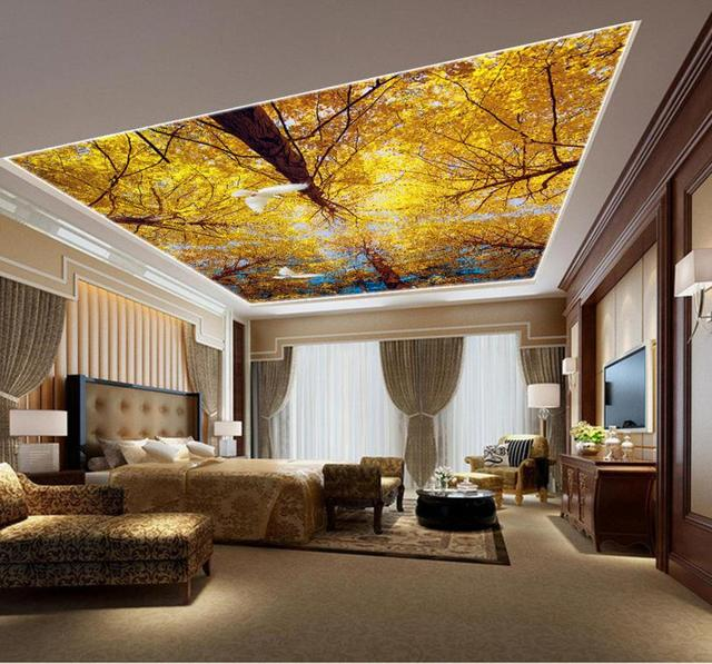 HD 3d landschaft decke fantasie fashion wald decke benutzerdefinierte 3d decke tapete sky.jpg 640x640 - Tapete Decke