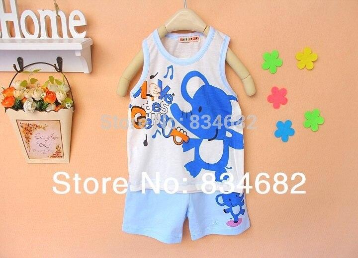 2017 комплект для малышей детский комплект детские майки футболка +штаны для девочек и мальчиков, майка, шорты, комплект одежды, детская одежда