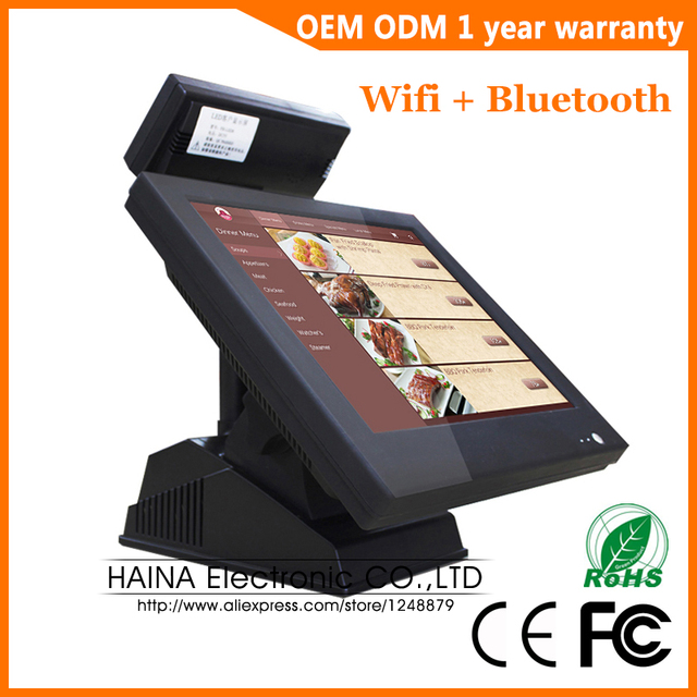 Haina Touch 15 inch VFD POS Machine Touch Screen Wifi Bluetooth POS System