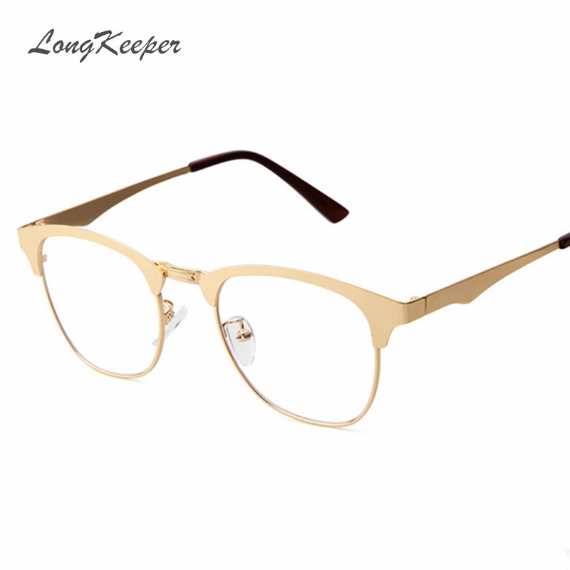 Metal Eyeglass Frame Materials : Aliexpress.com : Buy LongKeeper 2016 New Gold Metal Frame ...