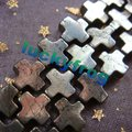 New!!! wholesale 8mm Pyrite Cross Loose Beads 48pcs/lot