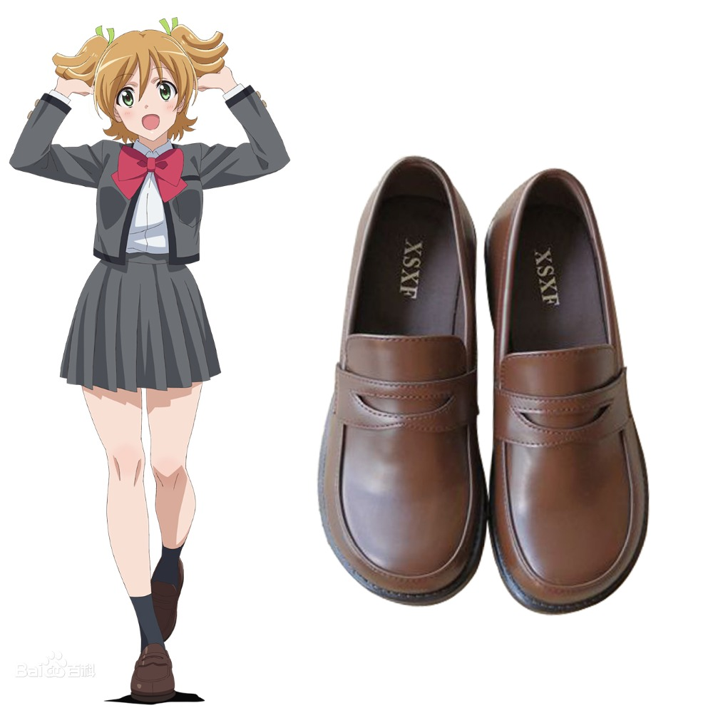Shoujo Kageki Revue Starlight Uniform Shoes Nana Daiba JK Round Toe Girls Lolita Anime Cosplay G8