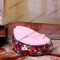 FREE SHIPPING Baby Seat With 2pcs Bright Pink Up Cover Baby Bean Bag Chair Baby Bea