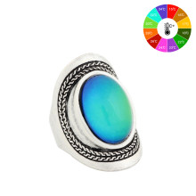 Mojo High quality Vintage Color Change Mood Ring Oval Emotion Changeable Ring Temperature Control Ring for Men MJ-RS020(China)