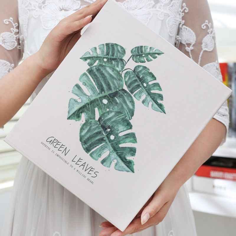 4D grande 6 pulgadas álbum de fotos 100 hojas álbum de recortes papel bebé familia álbum de recortes boda Foto DIY artesanía