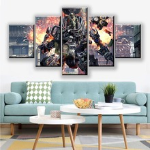 Wall Art Modular Pictures 5 Pieces/Pcs Titanfall 2 Video Game Poster Canvas Painting Modern Printed Home Decoration For Boy Room titanfall 2