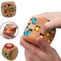 Brinquedo Inteligente China Kongming Bloqueio cérebro Teaser Hamburgo Rubi k's Magic Cube Jigsaw Puzzle de Madeira de Faia