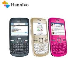 Восстановленный сотовый телефон Nokia C3, оригинальный, Wi-Fi, 2 МП, Bluetooth, Jave, разблокировка