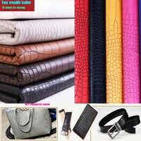 Bon 69 * 50cm1pc Faux cuir Crocodile tissu noir 20 couleur Pvc cuir bricolage Patchwork fait main sac matériel en cuir artificiel