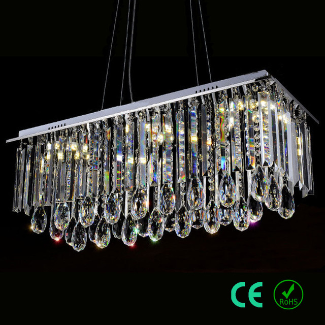 Chandelier light Wire Adjustable Stainless steel Base K9Crystal ...