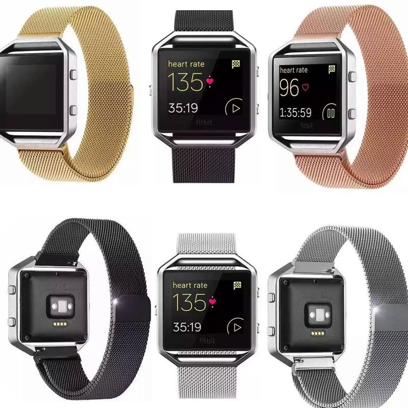 YIFALIAN Stainless Steel Link Bracelet Strap Milanese Loop Watchbands For Fitbit Blaze Tracker Smart Fitness Watch Band