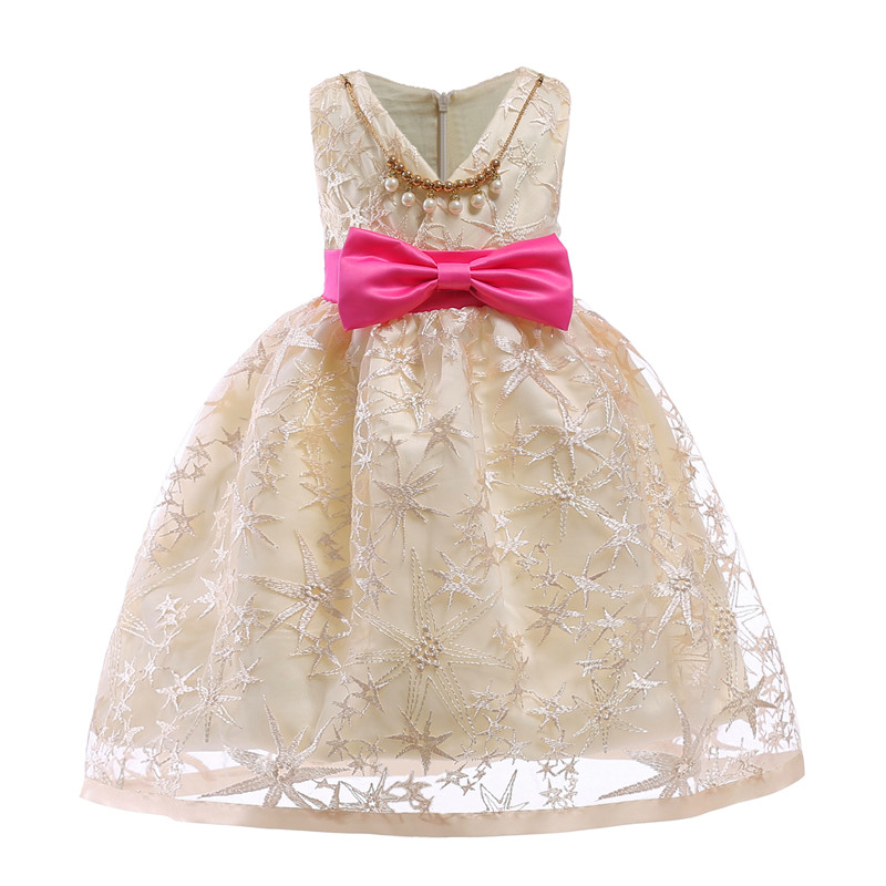 483807193 ZIKA Embroidery Stars Gilrs Dress Baby Girl Cute Bow Princess ...