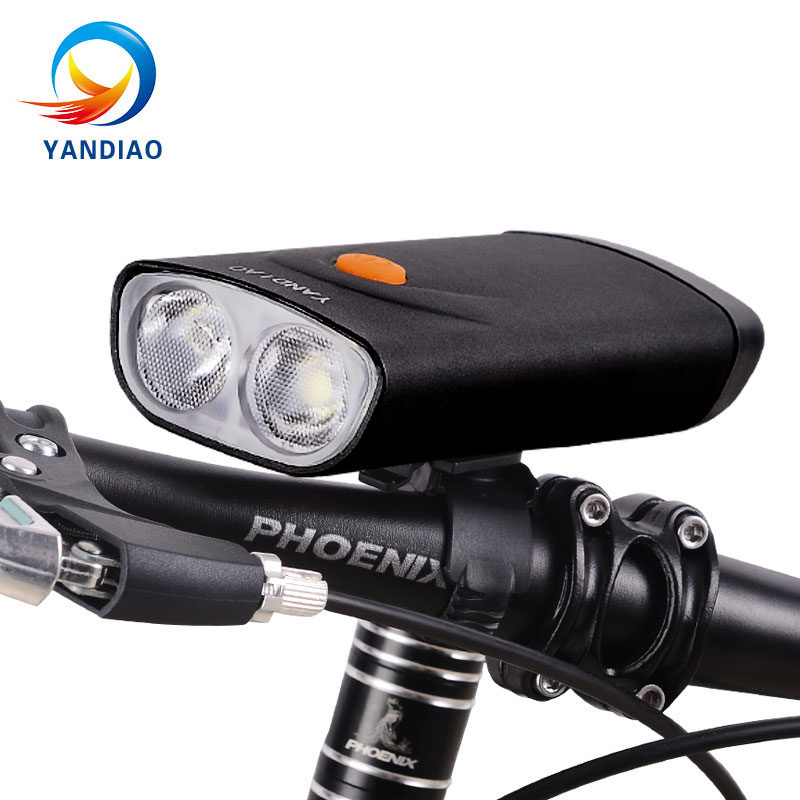 For Bicycle Head Light Front Handlebar Lamp Flashlight 5000LM Waterproof LED USB