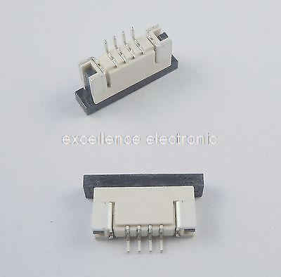 50 Pcs FPC FFC 1mm Pitch 4 Pin Drawer Type Ribbon Flat Connector Bottom Contact 50 pcs fpc ffc 0 5mm pitch 6 pin drawer type ribbon flat connector top contact
