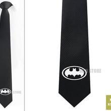 """Супер герой Бэтмен Символ Мужской Жаккардовый тканый узкий галстук 2,"""" 6 см Галстук Свадебная вечеринка галстук для жениха запонки LK007M"""