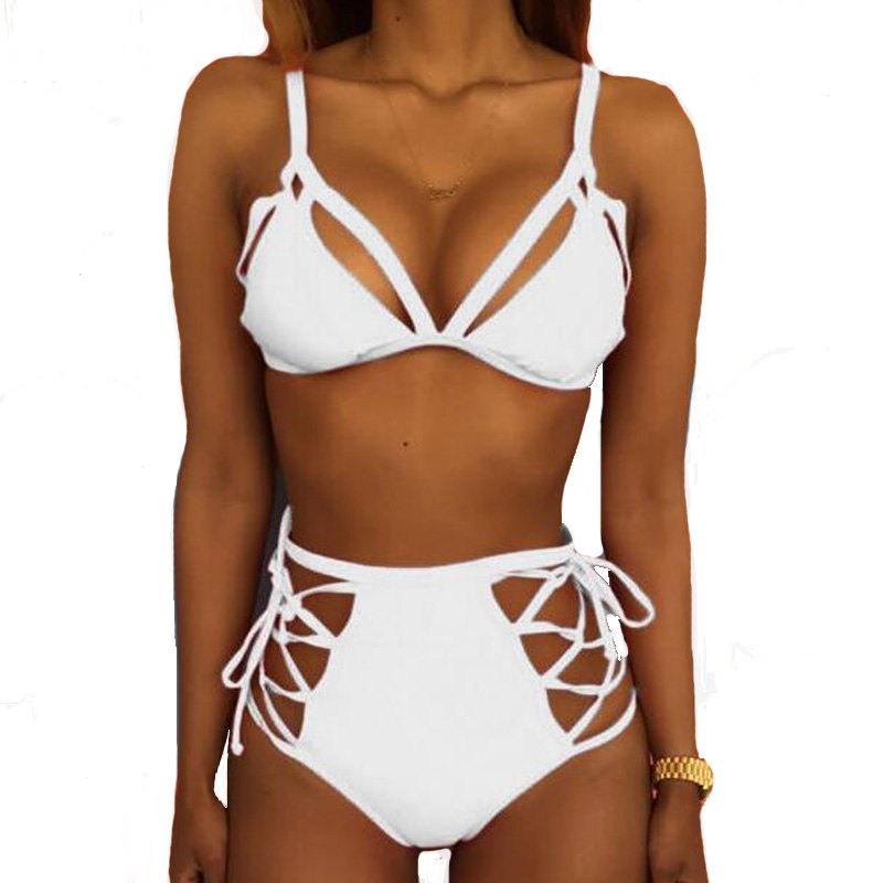 Swimwear women bikini 2017 maillot de bain Padded Push-up bandage straps Bikini Set Swimsuit Bathing Suit Swimwear Beachwear swimwear women bikini set 2017 patchwork bandage push up padded swimsuit bathing suit beachwear maillot de bain femme biquine