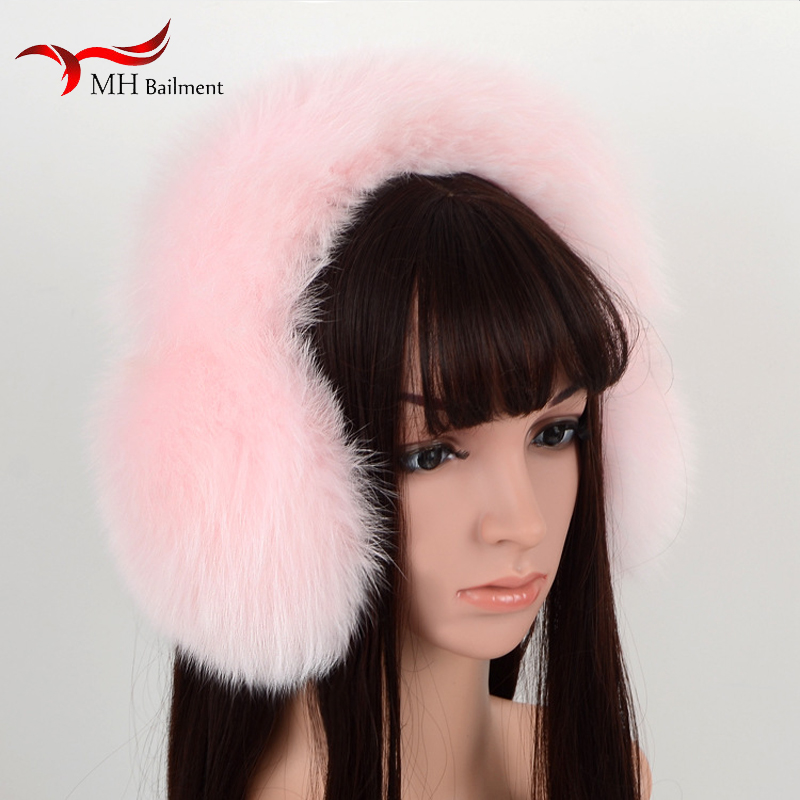 New Cute Super Large Fox Fur Earmuffs Warm Earmuffs Female Winter Fur Earmuffs Ear Tweezers Ear Warm Women J#25