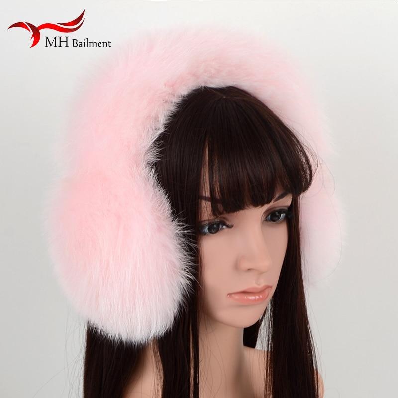 New Cute Super Large Fox Fur Earmuffs Warm Earmuffs Female Winter Fur Earmuffs Ear Tweezers Ear Warm Women J#25