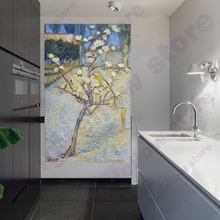 Van Gogh Replica Pear Tree Blossom Canvas Print Flowers Wall Art Picture for Dining Room Home Decor Artwork Can Handpaint