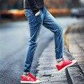 2017 nuevos hombres jeans nueva primavera pantalones lápiz mediados de cintura Del Envío libre delgada ocasional más el tamaño 28-40