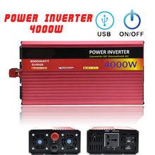 цены 4000W 50HZ Portable Vehicles Off-Road Power Inverter DC12V To AC220V USB Output