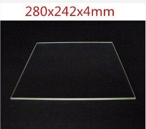 Funssor 100% Borosilicate Glass plate 280x242x4mm thickness 4mm for DIY Flyingbear P905X 3D printer Build Plate(China)