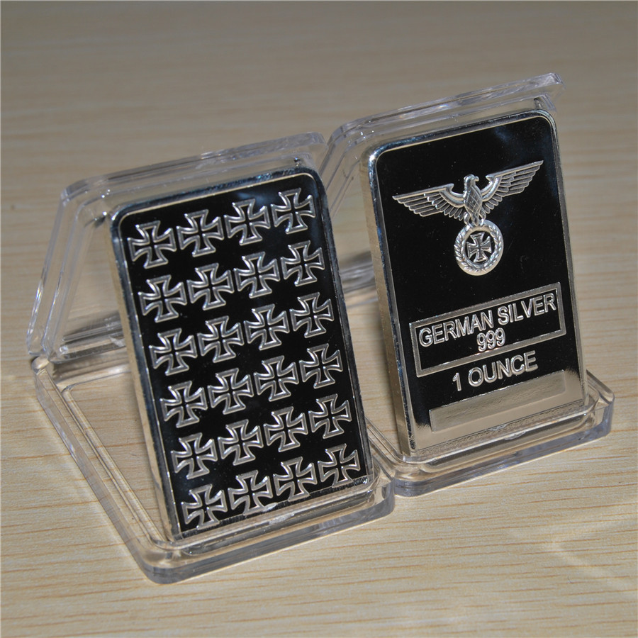 German Reichsadler 1oz Silver Bullion Bar 999 Silver One