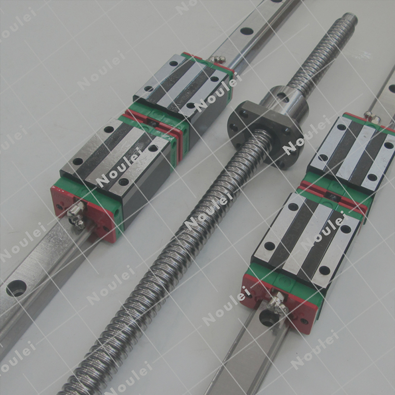 3 PCS SFU2005 ball screw +6 PCS HGR20 guide rail +12 PCS HGH20 slider for XYZ axis and its supporting products цена и фото