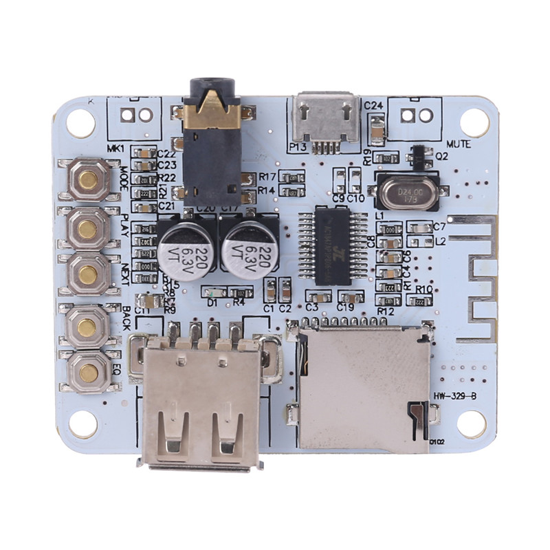 New Bluetooth Audio Receiver Module With USB TF Card Preamp Decoding Board C26