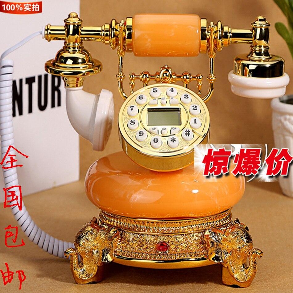 Антикварные телефон стационарный телефон Европейский высокой моды нефрита ретро Винтаж а ...