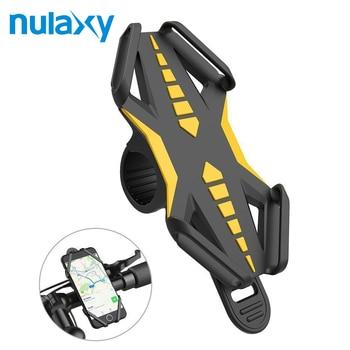 Suporte Do Telefone Nulaxy Anti-Slip Silicone Bicicleta Suporte Para iPhone Samsung Telefone MTB Da Bicicleta Da Motocicleta Guiador Montar Estande Titular