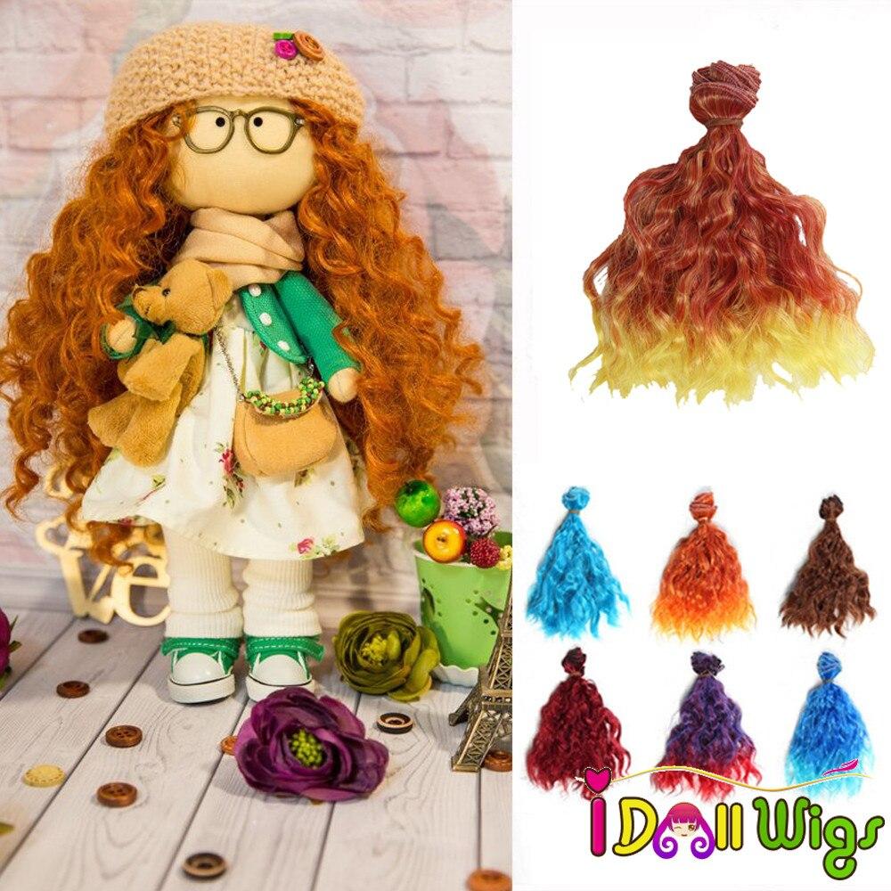 Bjd Doll Wig 1//3 8-9 Dal Pullip AOD DZ AE SD DOD LUTS Dollfie blonde mix brown