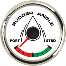 цены Pack of 1 52mm Waterproof Rudder Angle Gauges 9-32V Marine LCD Rudder Angle Meters Port to STBD with 8 Kinds Backlight for Ship