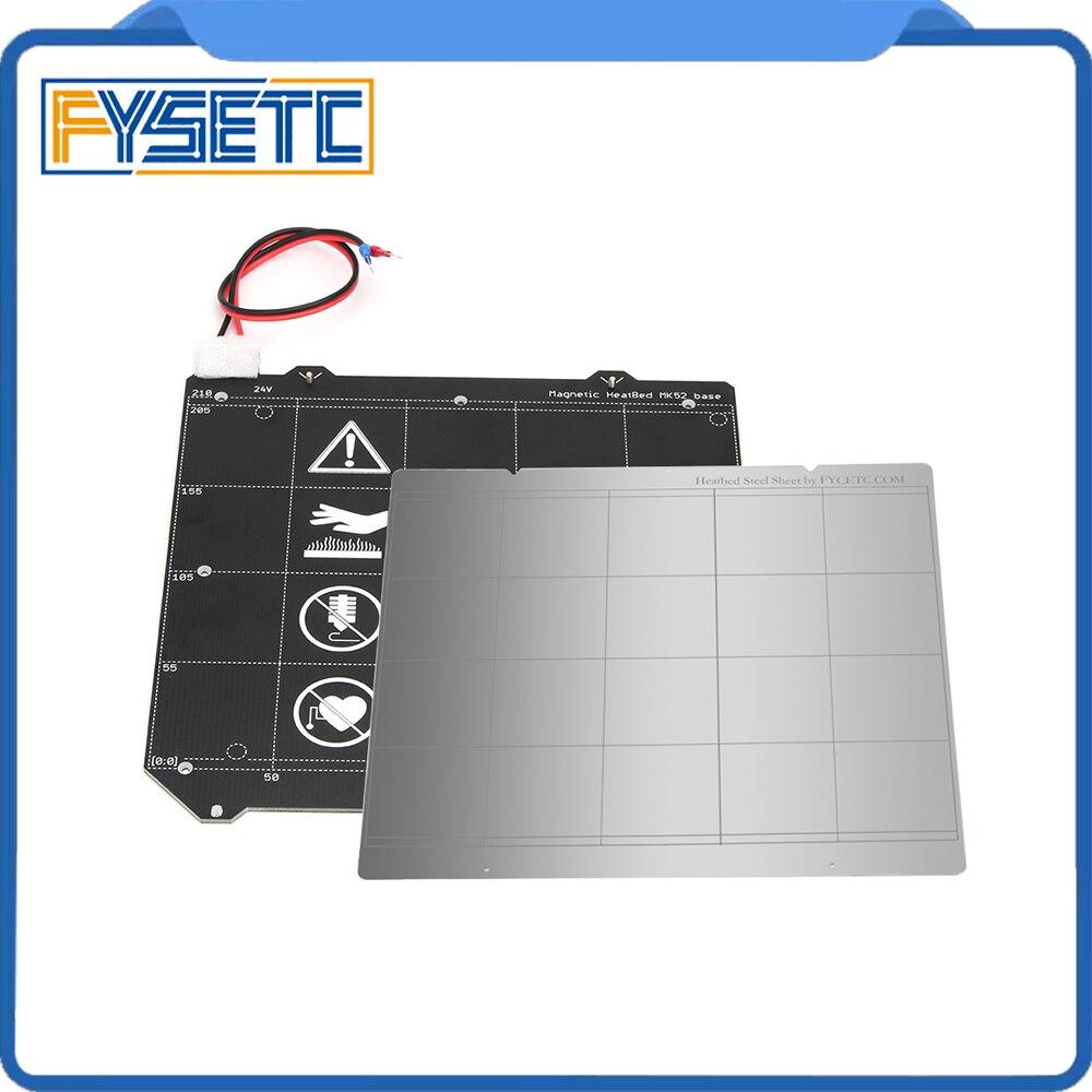 Клон Prusa i3 MK3 3D-принтеры MK3 Магнитная с подогревом MK52 проводки термистор комплект с магнитом + Сталь лист для Prusa i3 MK3