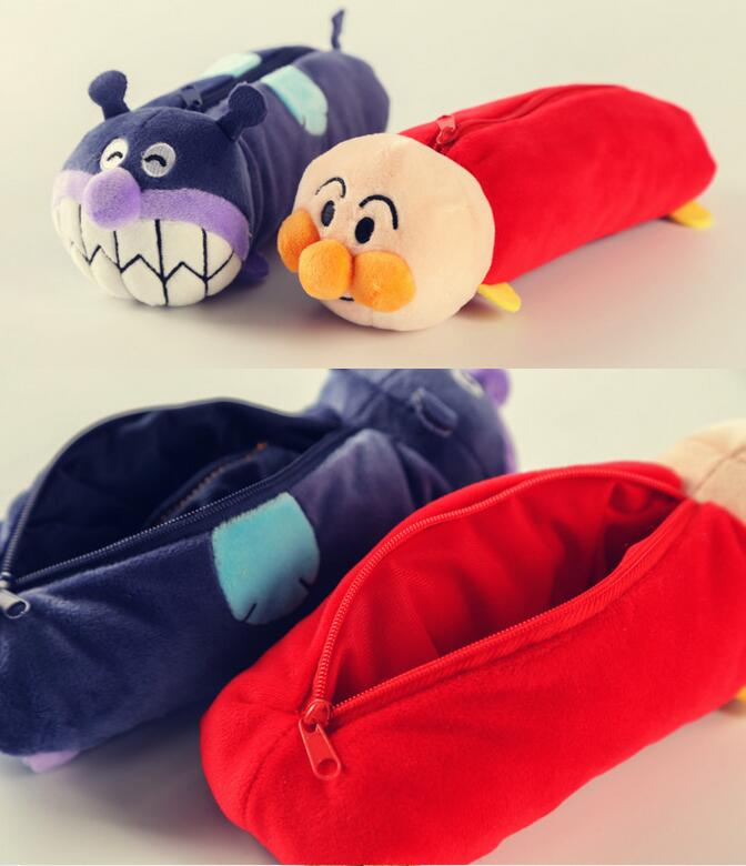 candice guo plush toy stuffed doll cute cartoon anime lovely Anpanman Baikinman soft pencil bag creative kids children gift 1pc 50cm lovely super cute stuffed kid animal soft plush panda gift present doll toy