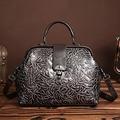Made of Embossed Leather Women's Handbag Genuine Leather Vintage Tote Bag Female Hobo Messenger Crossbody Shoulder Travel Bags
