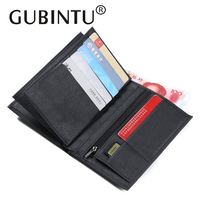 GUBINTU Genuine Leather Passport Holder Wallet With Passport Cover Pouch Case Pocket Zipper Coin Pocket Card