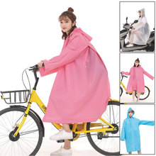 цены 1PC good quality multifunctional waterproof plastic adult 3 in 1 Hooded raincoat women bicycle men Motorcycle ponchos