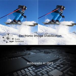 Image 2 - Original EKEN H6S 4K+ Ultra HD 14MP with EIS Remote Sport Camcorder Ambarella A12 Chip Wifi 30m Waterproof Sensor Action Camera