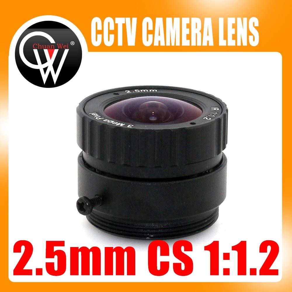 3MP 2.5mm CS objectif approprié pour both1/2.5 et 1/3 CMOS chipsets pour caméras ip et caméras de sécurité