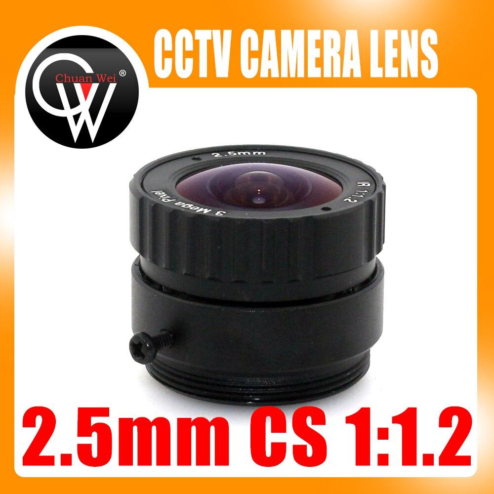 3MP 2.5mm CS objectif cctv approprié pour both1/2.5 et 1/3 CMOS chipsets pour caméras ip et caméras de sécurité