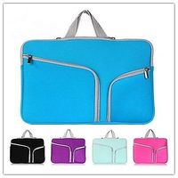 New Neoprene Dual Pocket Notebook Laptop Sleeve Carry Bag Case For MacBook Air Pro Retina 11