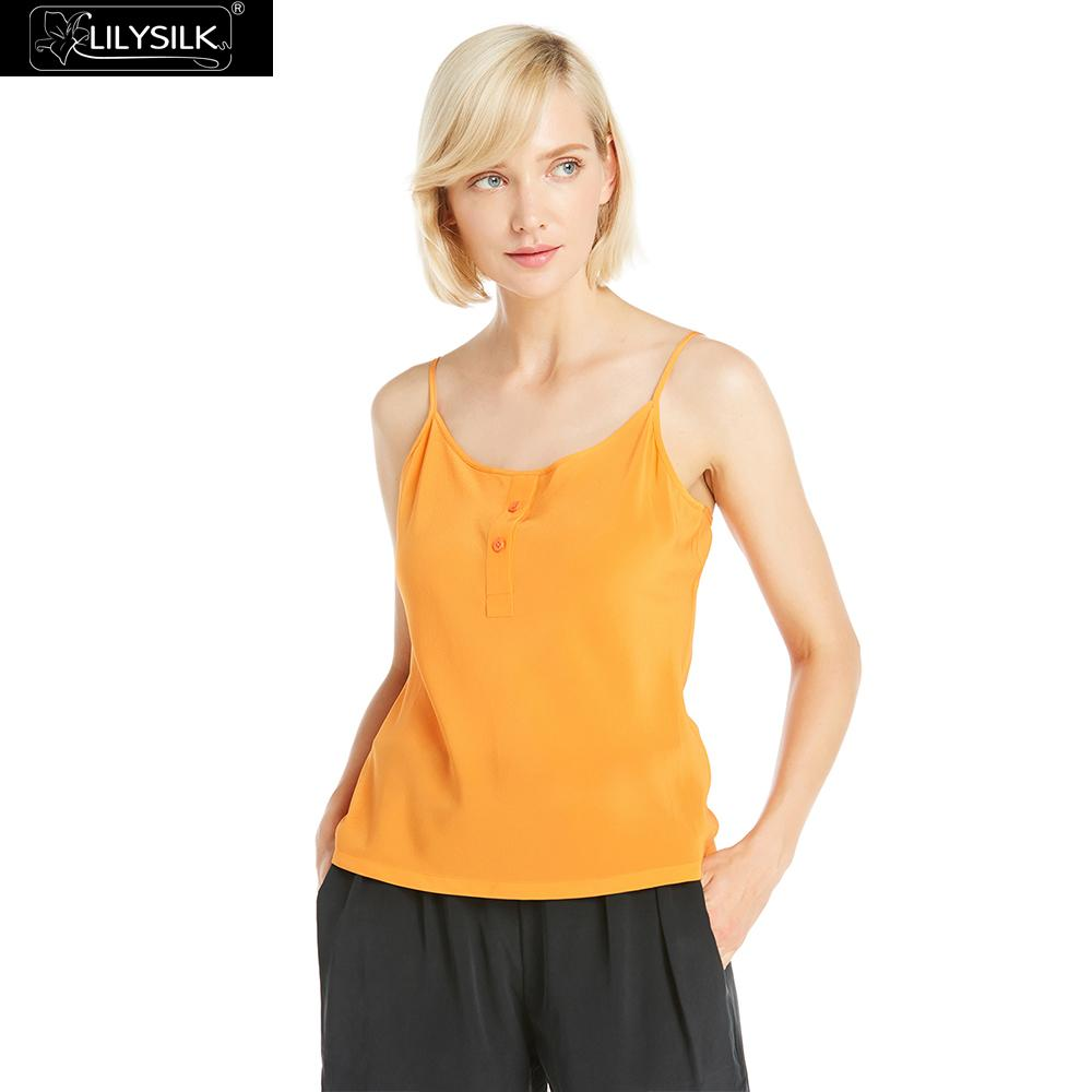 459c0cbf36 LILYSILK Camisole Silk Women Round Neck Button Front Ladies Free Shipping  Clearance Sale