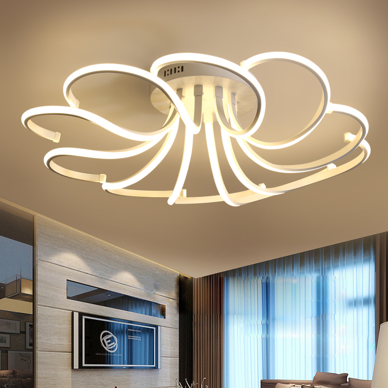 Surface Mounted Modern Led Ceiling Lights For Living Study Room Bedroom Indoor Home Aluminum Lampshade Led