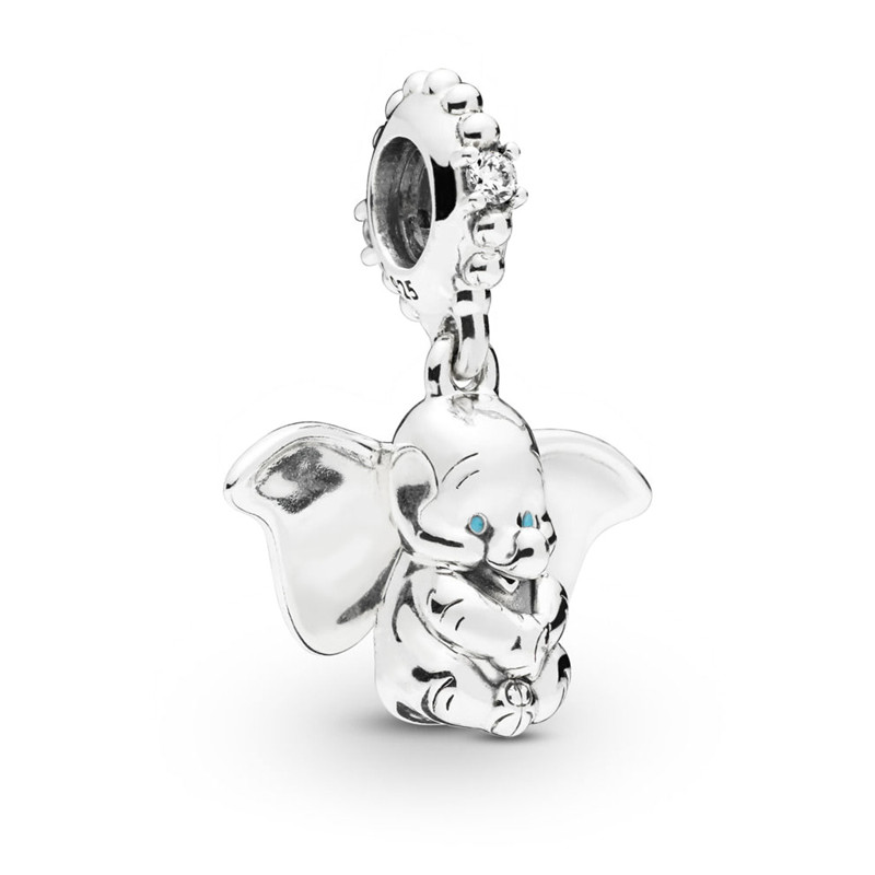 2019 Spring New 925 Sterling Silver Animal Pendant Bead Dumbo Hanging Charm Fit Original Pandora Bracelet for Women DIY Jewelry2019 Spring New 925 Sterling Silver Animal Pendant Bead Dumbo Hanging Charm Fit Original Pandora Bracelet for Women DIY Jewelry