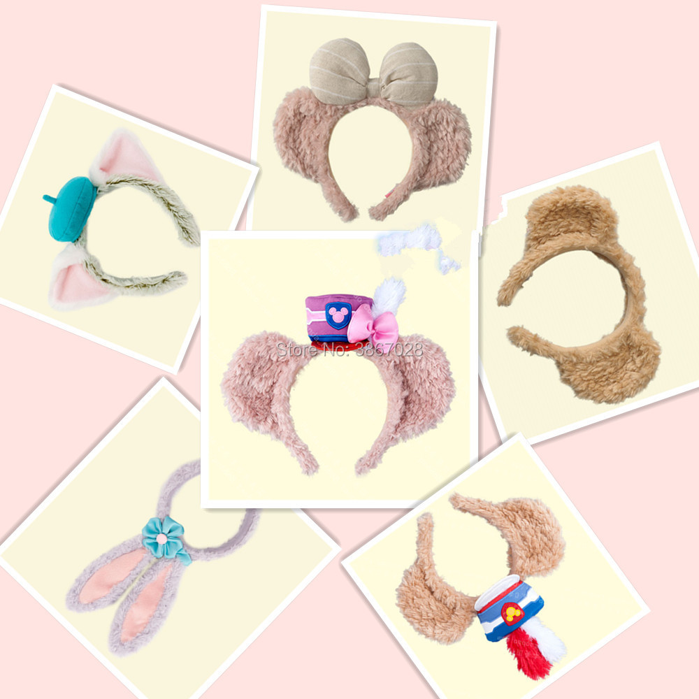 NEW Minnie Mickey 35th Duffy Bear Shelliemay Stella Lou Rabbit Gelatoni EARS COSTUME Headband Cosplay Plush Adult Kids Gift 2018 In Movies TV From Toys