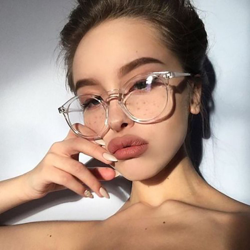 2019 Fashion Transparent Round Glasses Clear Frame Women Spectacle Myopia Glasses Men EyeGlasses Frame Nerd Optical Frames Clear
